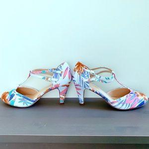 Retro tropical heels—NIB